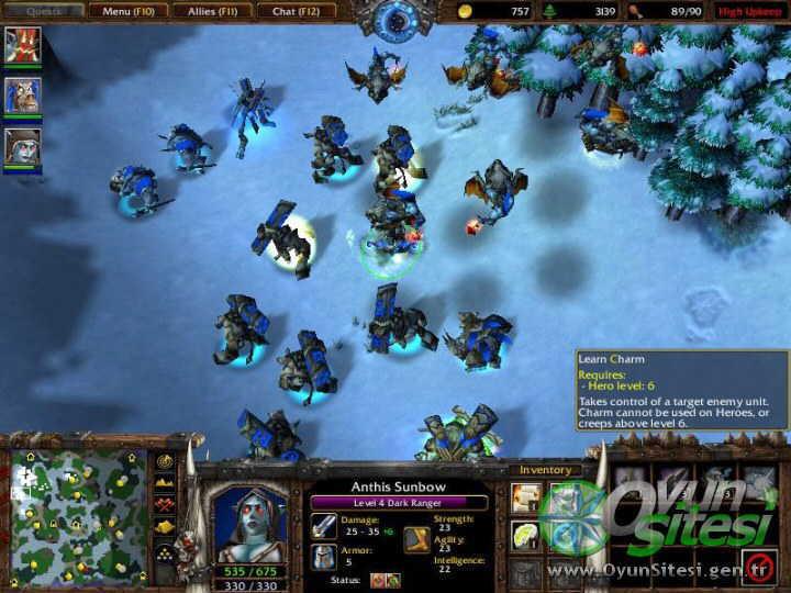 WarCraft III ve Frozen Throne - FULL indir - DOWNLOAD Wc3ft6byk